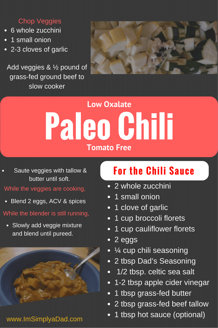 low oxalate paleo chili