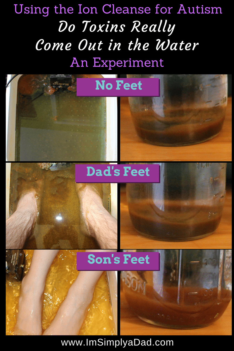Ion Cleanse for Autism: Why does the water change color? Do toxins come out in the Water